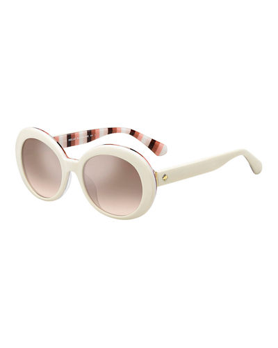 cindras gradient oval sunglasses