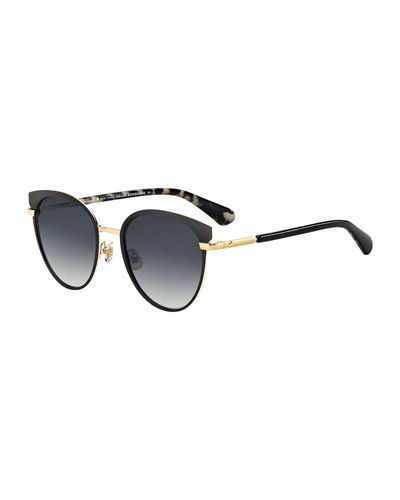 janalee cat eye metal & acetate sunglasses