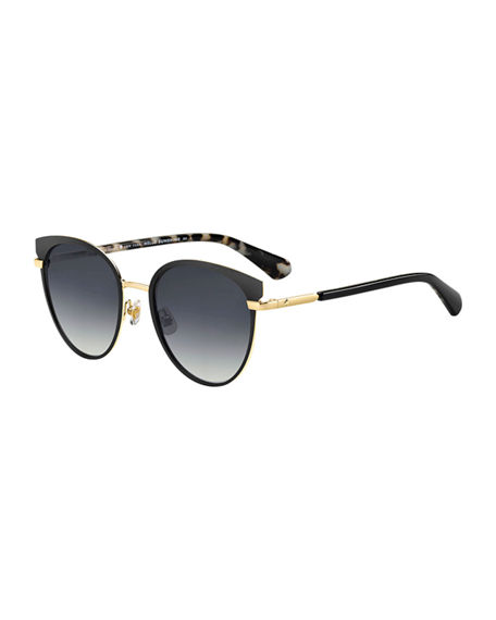 kate spade new york janalee cat eye metal & acetate sunglasses