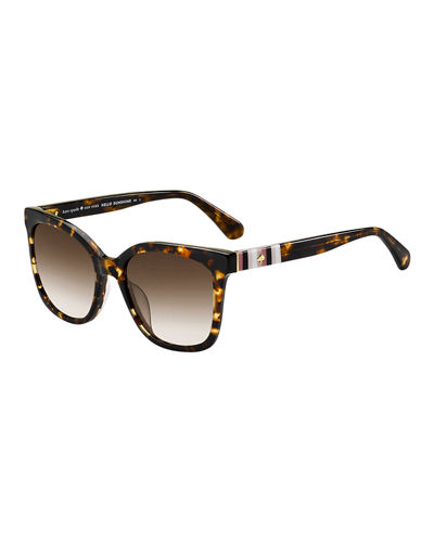 kate spade new york kiyas acetate rectangle sunglasses