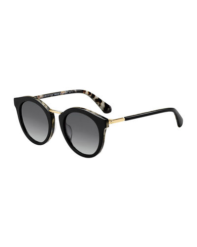 joylyn round acetate & metal sunglasses