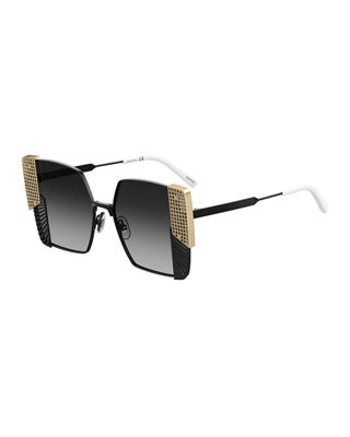 OXYDO SQUARE GRATED & PERFORATED METAL SUNGLASSES