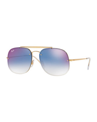 General Blaze Lens-Over-Frame Square Sunglasses