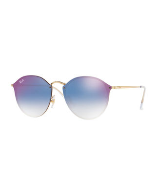 Ray-Ban Blaze Round Mirrored Sunglasses