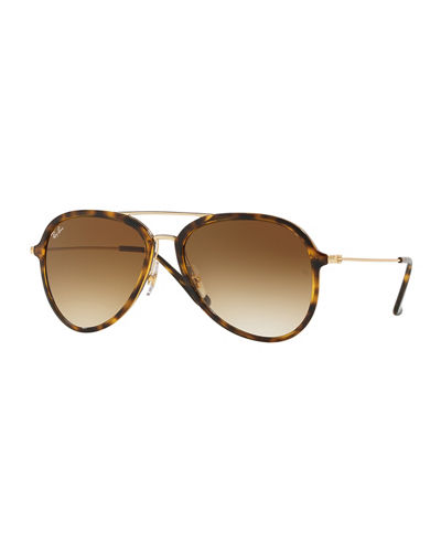 Gradient Aviator Metal Sunglasses