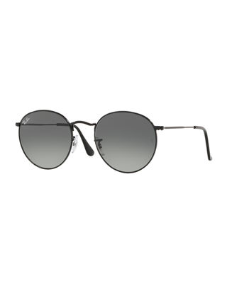 Ray-Ban Unisex Gradient Round Sunglasses, 53Mm, Gray Pattern