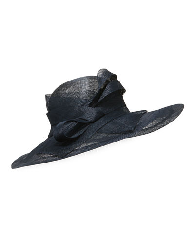 Marzi Large Brim Side-Bow Hat