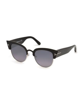 Alexandra Tf 607 05C Black Gold Cat-Eye Sunglasses from Sunglass Hut