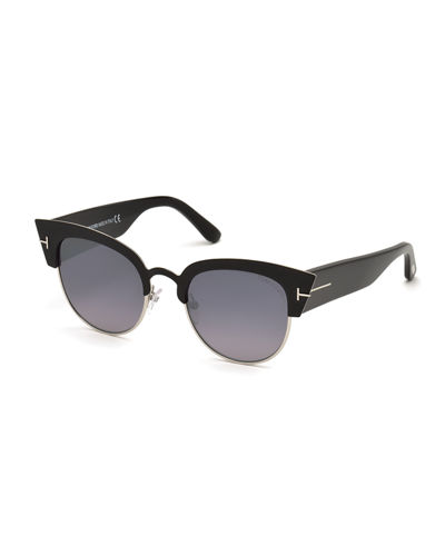 Alexandra Semi-Rimless Cat Eye Sunglasses