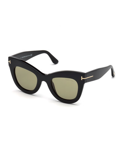 Karina Cat-Eye Plastic Sunglasses