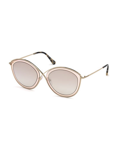 Sacha 02 Crossover-Nose Round Metal Sunglasses