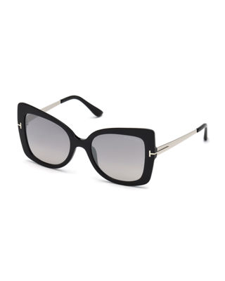 TOM FORD Gianna 02 Metal & Plastic Butterfly
