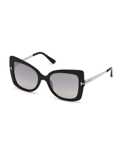 Gianna 02 Metal & Plastic Butterfly Sunglasses