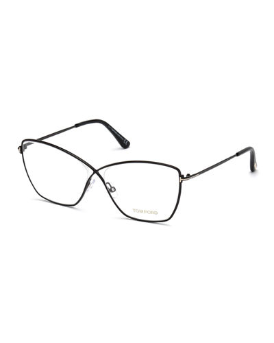 Cat-Eye Metal Optical Frames