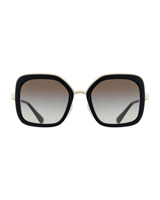 Image 2 of 4: Rimmed Square Metal Sunglasses