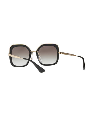 Image 4 of 4: Rimmed Square Metal Sunglasses