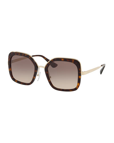 Rimmed Square Metal Sunglasses