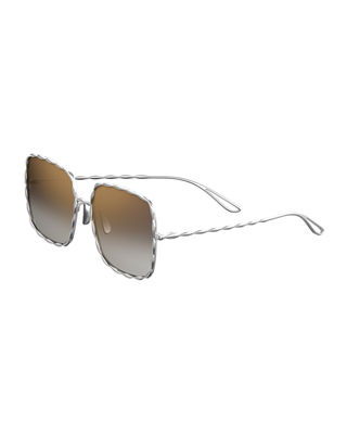 Mirrored Square Gold-Plated Sunglasses