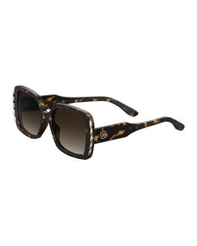 Elie Saab Square Acetate Sunglasses