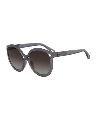 Chloe Rita Cat-Eye Plastic Sunglasses
