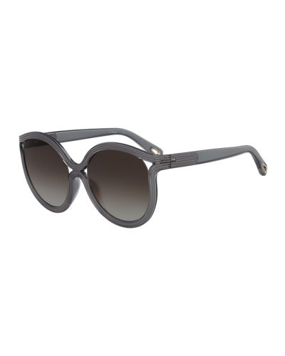 Rita Cat-Eye Plastic Sunglasses