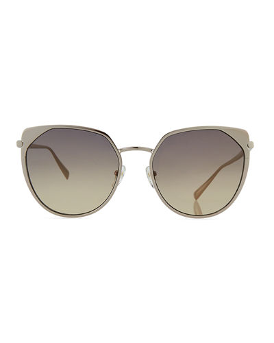 Cat-Eye Acetate & Metal Sunglasses