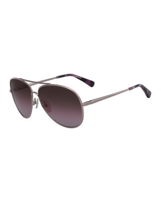 61MM GRADIENT LENS AVIATOR SUNGLASSES - ROSE GOLD