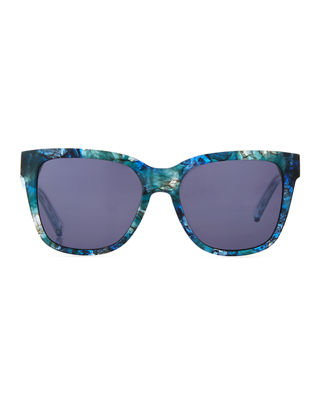 Image 2 of 3: Thick Square High-Temple Sunglasses