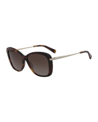 Longchamp Classic Monochromatic Butterfly Sunglasses