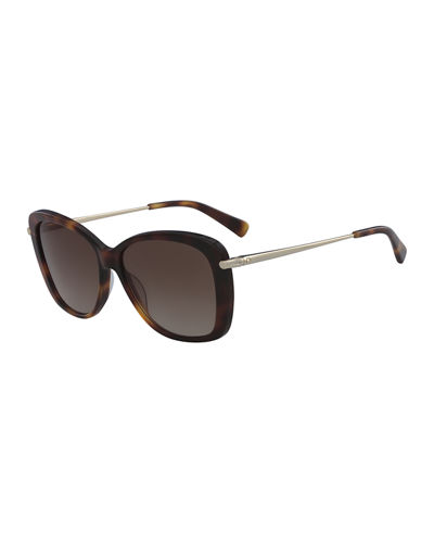 Classic Monochromatic Butterfly Sunglasses