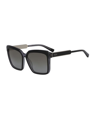 MCM Square Zyl Sunglasses w/ Metal Trim