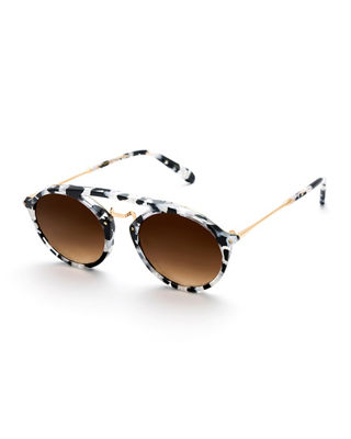 KREWE Marigny 24K Gradient Round Sunglasses, 50Mm in Interstellar