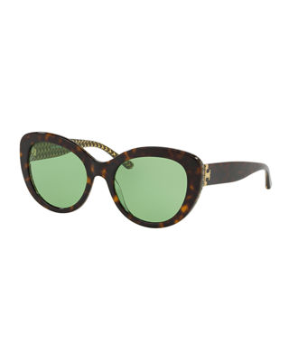 Tory Burch Cat-Eye Acetate Sunglasses