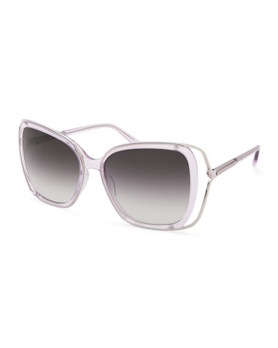 Demoiselle Open-Temple Square Sunglasses