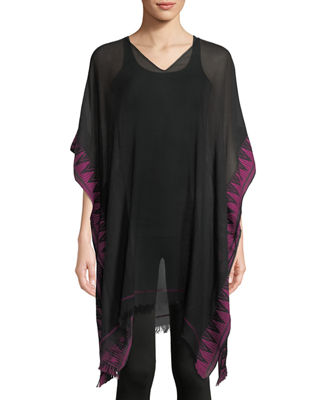 Eileen Fisher Hand-Loomed Sheer Poncho and Matching Items
