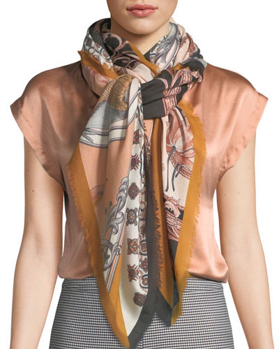 Patchwork Wool Scarf