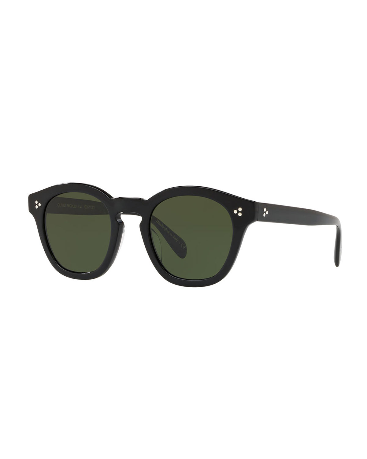 39ef23baf93 Oliver Peoples Boudreau L.A. Mirrored Round Acetate Sunglasses ...