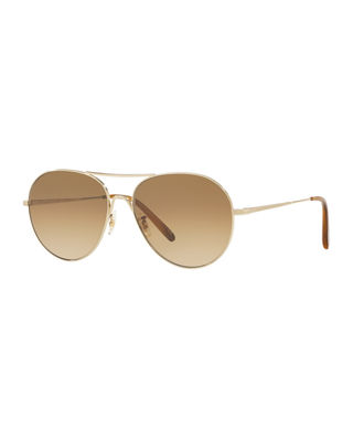 Image 1 of 2: Rockmore Photochromic Metal Aviator Sunglasses