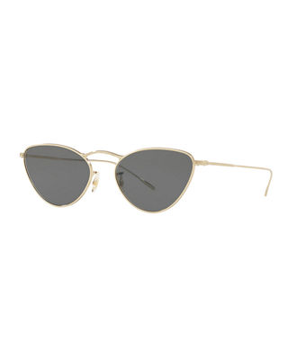 Oliver Peoples Lelaina Cat-Eye Metal Sunglasses