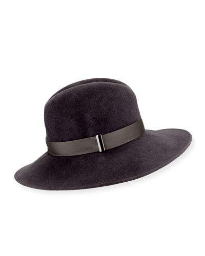 Requiem Wool Wide-Brim Fedora Hat