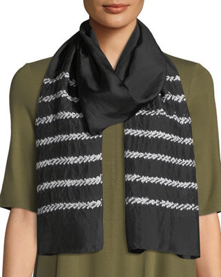 Eileen Fisher Shibori Silk Stitches Scarf