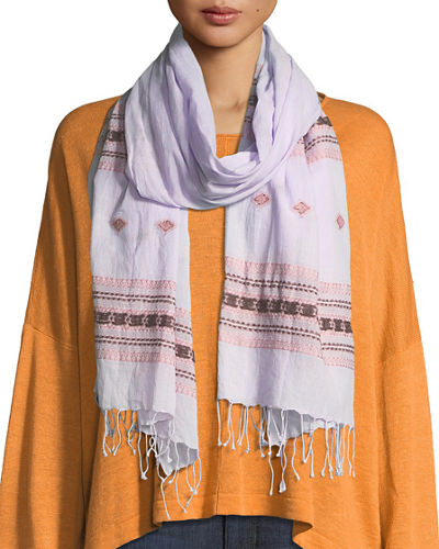 Hand-Loomed Organic Cotton Scarf