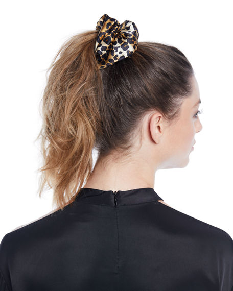 Jennifer Behr Leopard-Print Hair Scrunchie