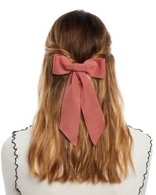 Jennifer Behr Wide Grosgrain Bow Barrette