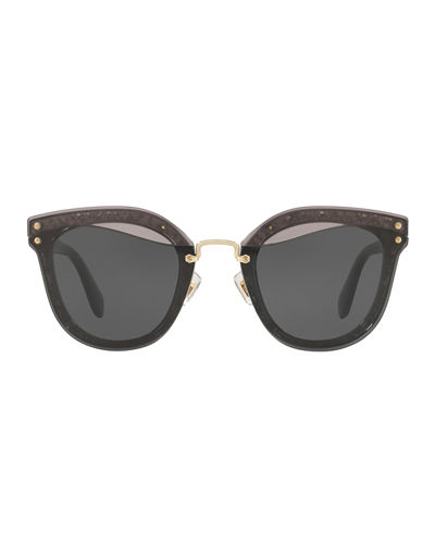 Monochromatic Butterfly Sunglasses