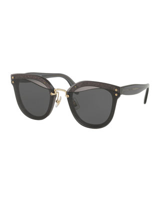 Miu Miu Monochromatic Butterfly Sunglasses