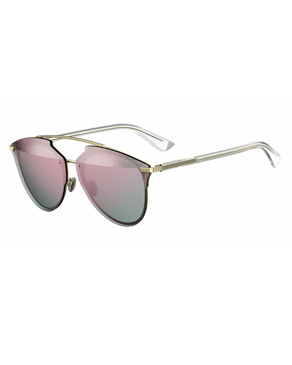 0c363918166 Dior Reflected Prism Aviator Sunglasses In Pink