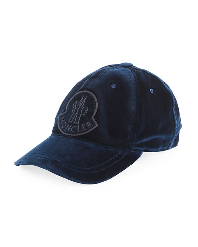 Velvet Baseball Cap w/ Logo Patch