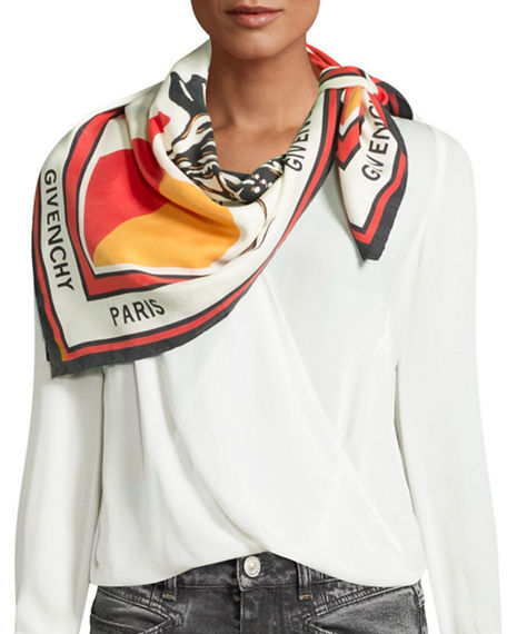 Givenchy Scarves Catwings Square Silk Scarf