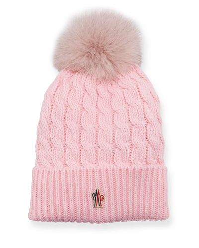Berretto Knit Hat w/ Fur Pompom